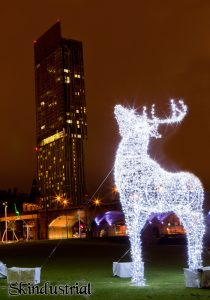 Beetham Tower at Christmas