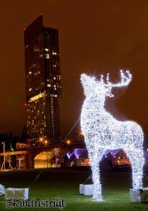 Beetham Tower at Christmas