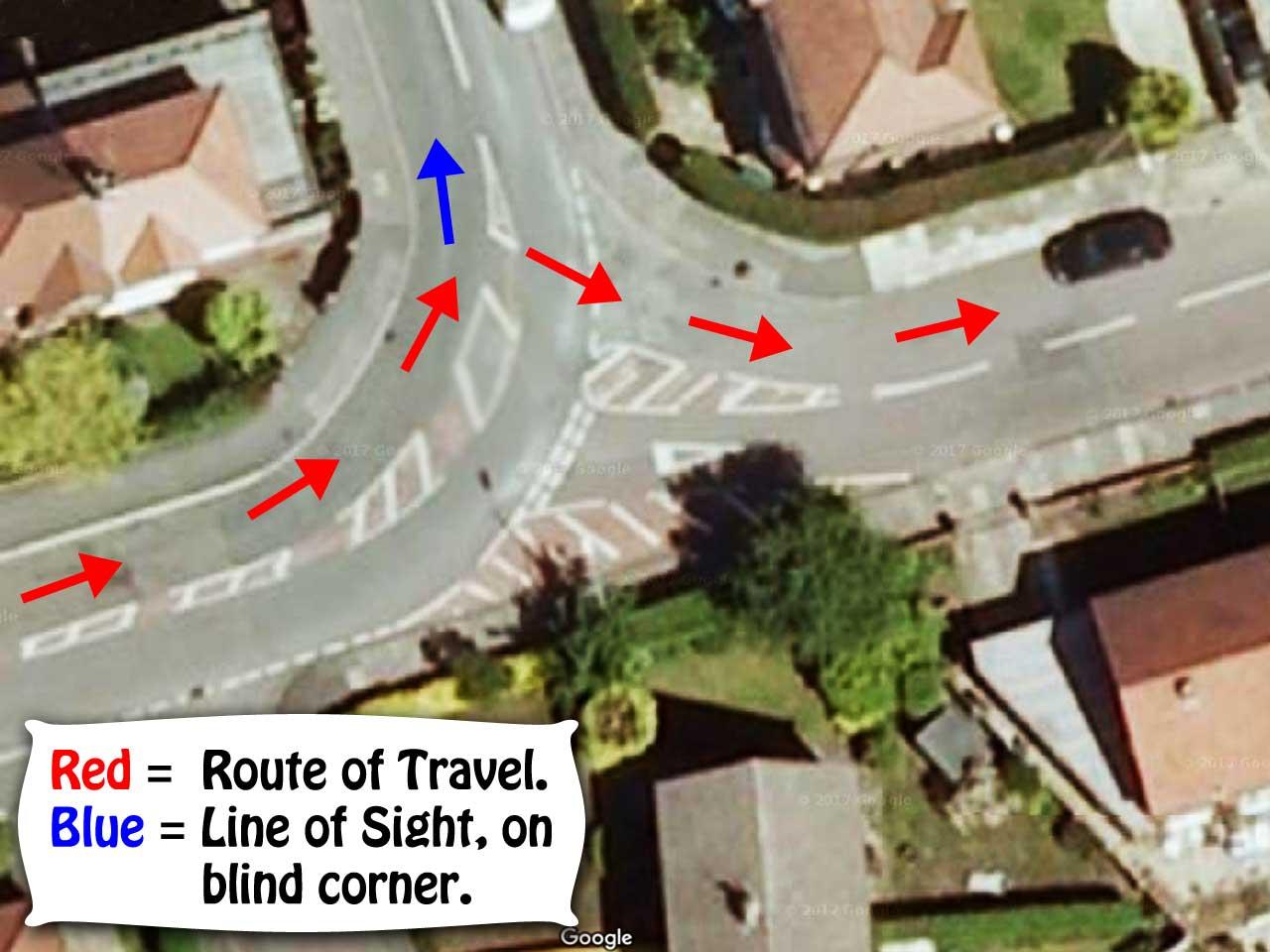 Blind Corner Road Markings